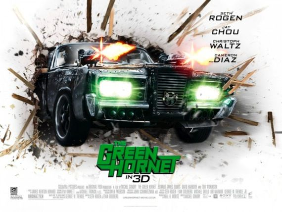 The Green Hornet movie poster Movie Poster Roundup: Green Hornet, Sucker Punch, Thor