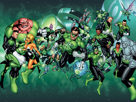 The Green Lantern Corps Green Lantern: The Comic Books vs. The Movie