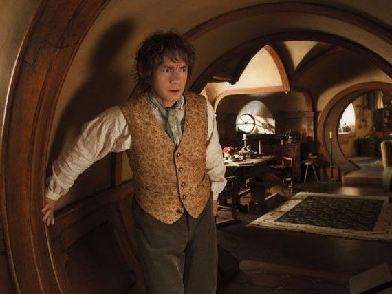 The Hobbit Bilbo At Bag End 570x427 The Hobbit Bilbo At Bag End