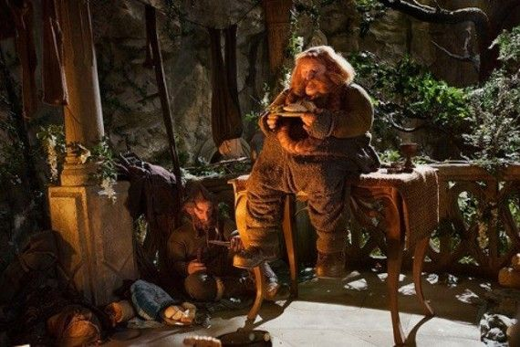 The Hobbit Bombur In Rivendell 570x380 The Hobbit Bombur In Rivendell