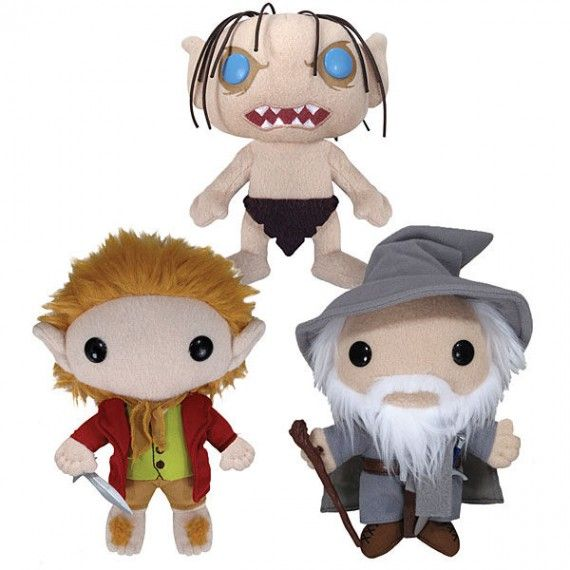 The Hobbit Mini Plush 570x570 SR Geek Picks: The Hobbit + The Goonies, Man of Steel & Iron Man 3 Mashup Trailer, Happy Holidays From Hermione & More!