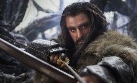 The Hobbit Thorin Oakenshield With Bow 280x170 The Hobbit Brand New Cast Images: A Closer Look at Bilbos Companions