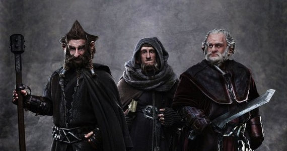 The Hobbit movie image New Hobbit Image: The Dwarf Brothers Nori, Ori, & Dori