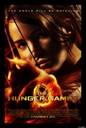 The Hunger Games Movie Poster Katniss 280x414 New Hunger Games Image & Poster: Katniss & Peeta Get Ready to Blaze [Updated]