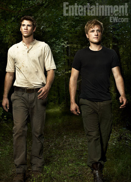 liam hemsworth as gale and josh hutcherson as peeta in the hunger games