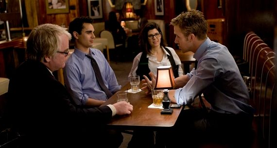 ryan gosling phillip seymour hoffman marisa tomei and max minghella in ides of march