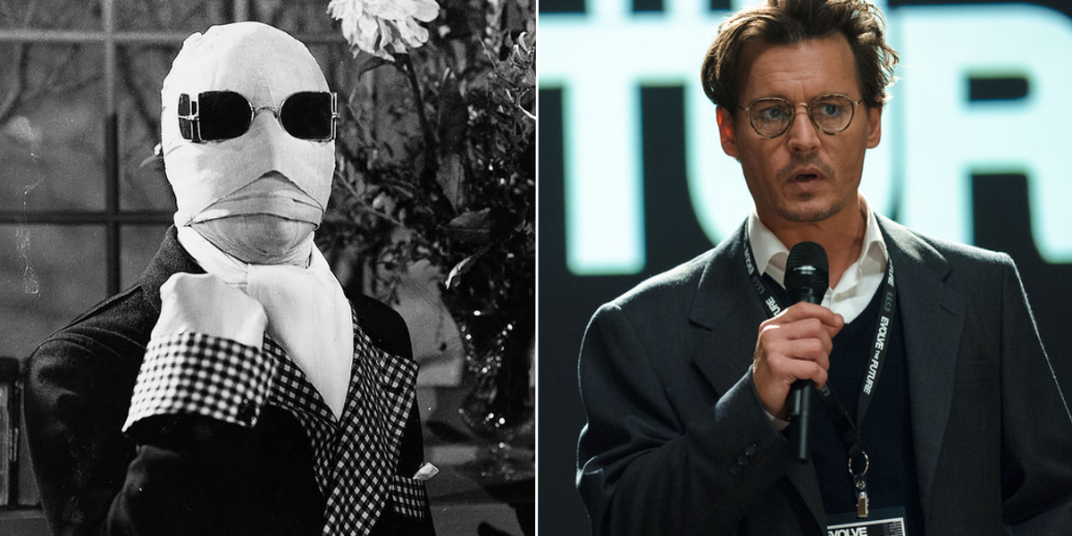 johnny depp cast in the invisible man remake at universal