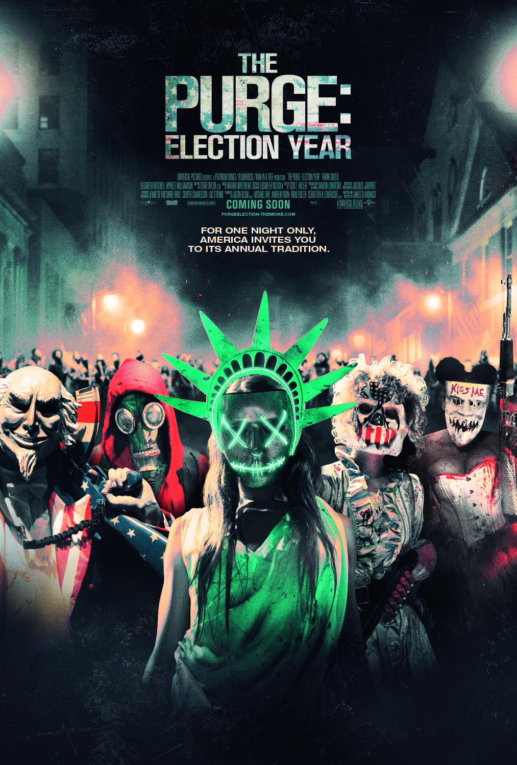 SCARS & STRIFE: 'The Purge Election Year' Agitprop, Change Agents & False  Left–Right Statecraft