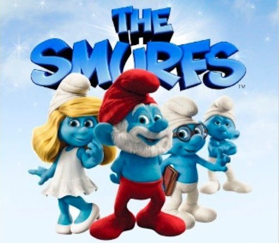 The Smurfs promo image First Image From the New Muppet Movie & The Smurfs Promo Pic