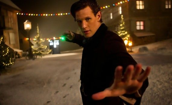 The Time of the Doctor Matt Smith 570x350 Doctor Who Christmas Special Trailer & Images; Matt Smith is the Thirteenth Doctor