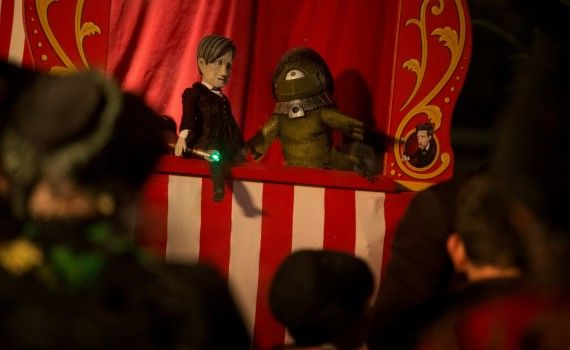 The Time of the Doctor Punch and Judy show 570x350 Doctor Who Christmas Special Trailer & Images; Matt Smith is the Thirteenth Doctor