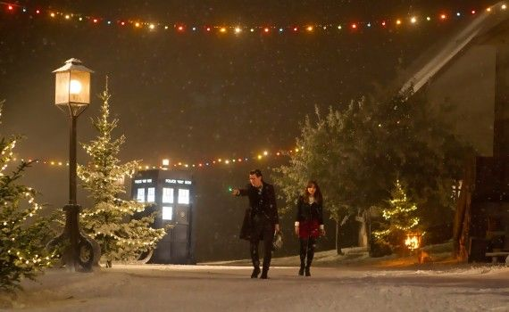 The Time of the Doctor Snow 570x350 Doctor Who Christmas Special Trailer & Images; Matt Smith is the Thirteenth Doctor