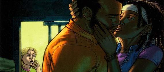 The Walking Dead adds Tyreese the kiss The Walking Dead Season 3 Fall Finale Will Add Popular Comic Character