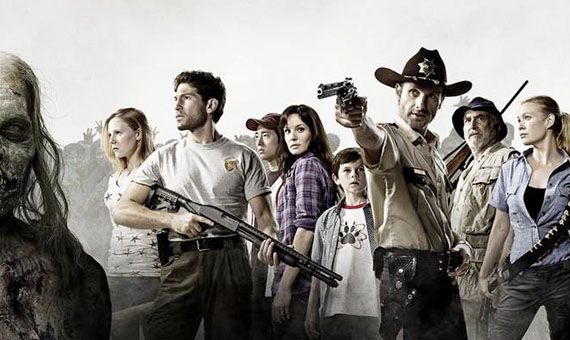 The Walking Dead full cast image The Walking Dead Finds Ratings Life; Second Season Likely