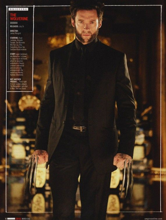 The Wolverine Hugh Jackman Black Suit 570x755 The Wolverine (Hugh Jackman) wearing Black Suit