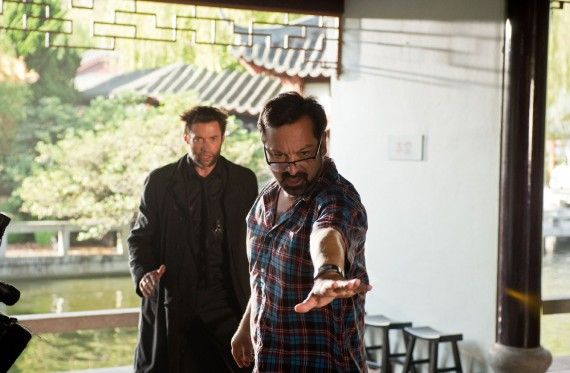 The Wolverine Official Set Photo James Mangold Hugh Jackman Japan Funeral 570x373 The Wolverine Set Interview: Hugh Jackman