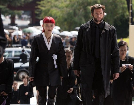 The Wolverine Official Set Photo Yukio Logan Funeral 570x449 The Wolverine Set Interview: Rila Fukushima