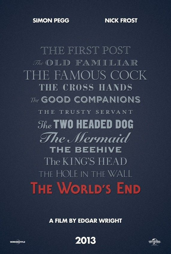The Worlds End Poster 570x844 The Worlds End Poster
