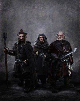 The dwarfs Dori Nori and Ori in The Hobbit 280x350 New Hobbit Image: The Dwarf Brothers Nori, Ori, & Dori