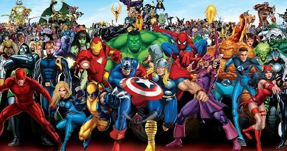 The many characters of the Marvel universe