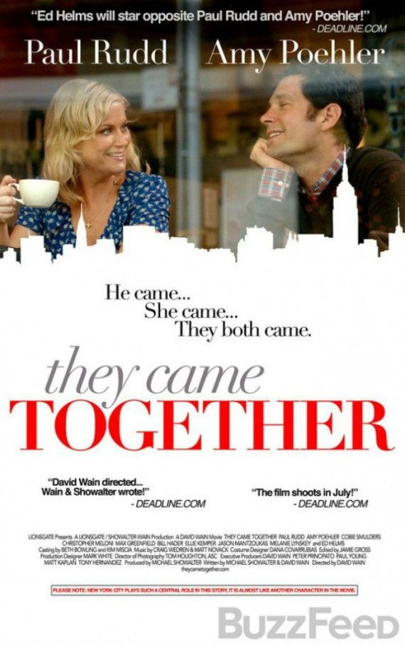 They Came Together poster 570x908 They Came Together Trailer: Paul Rudd and Amy Poehler Have an Odd Romance