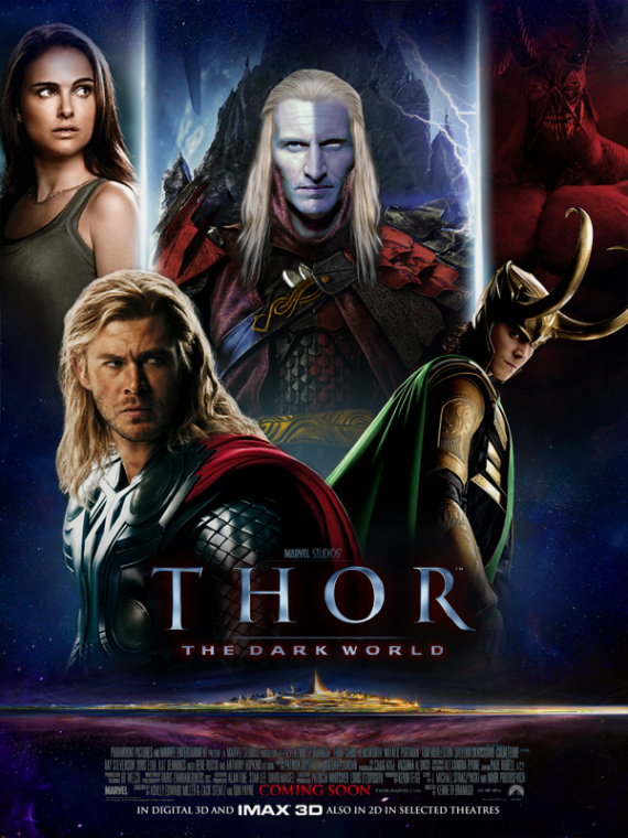 Thor 2 Fan Poster 570x760 SR Geek Picks: Dark Knight Binges Trailer, Nightwing Rises and Thor 2 Fan Posters & More!