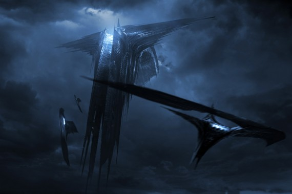 Thor 2 The Dark World Ark Harrows Dark Elf Ships 570x379 25 Cool New Things Youll See in Thor: The Dark World