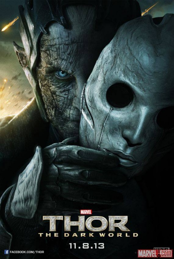 Thor 2 The Dark World Malekith Poster 570x847 New Thor: The Dark World Poster: Malekith Gets Face Time
