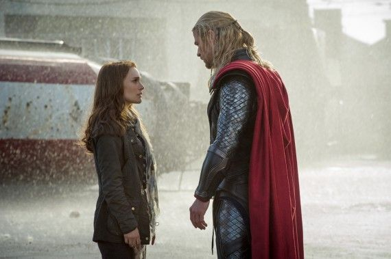 Thor 2 The Dark World Official Photo Natalie Portman Chris Hemsworth Earth 570x379 Thor 2 The Dark World Official Photo Natalie Portman Chris Hemsworth Earth