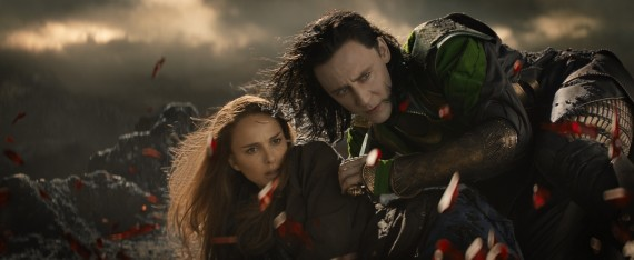 Thor 2 The Dark World Official Still Photo Loki Jane 570x234 Thor 2 The Dark World Official Still Photo Loki Jane