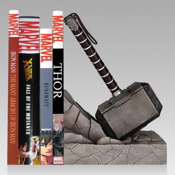 Thor Hammer Bookend 570x570 SR Geek Picks: The Pixar Theory, Movie Posters with the Original Casting, Great Movie Cars & More