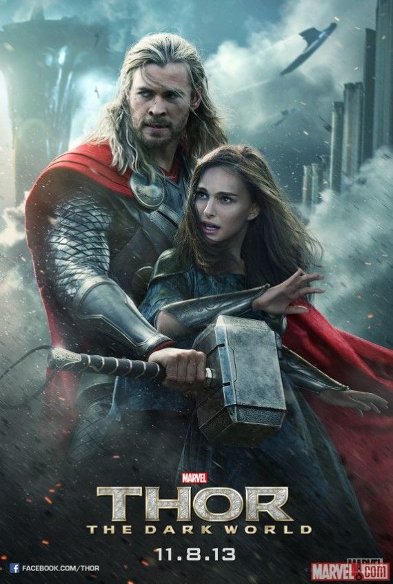Thor The Dark World Thor Jane Poster Official 570x847 New Thor: The Dark World Poster: Malekith Gets Face Time