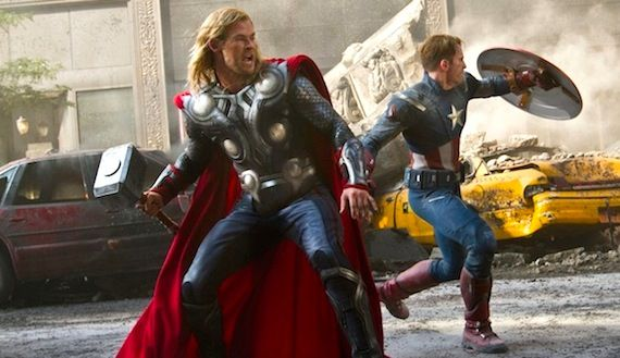 Thor and Captain America in The Avengers Captain America 2 Could Begin Production By Late 2012