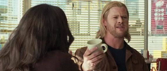 Thor coffee mug scene Thor 2 Snags Rise of the Silver Surfer Screenwriter