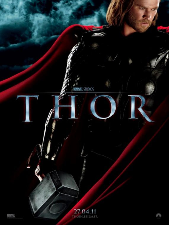 Thor movie poster Movie Poster Roundup: Green Hornet, Sucker Punch, Thor