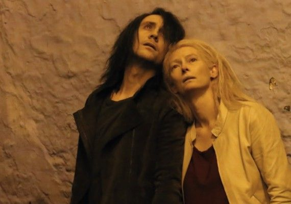 Tilda Swinton and Tom Hiddleston in Only Lovers Left Alive 570x400 Tilda Swinton and Tom Hiddleston in Only Lovers Left Alive