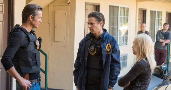 Timothy Olyphant and Tim Gutterson in Justified Season 5 Episode 7 Justified: Loyalty Is a Hard Thing to Come By