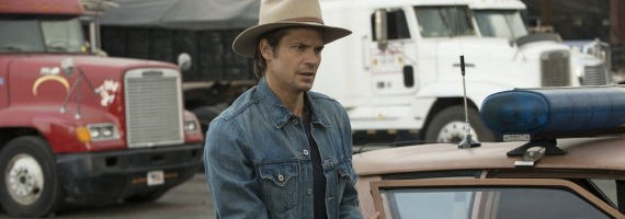 Timothy Olyphant as Raylan Givens in Justified Hole in the Wall Justified Season 4 Premiere Review