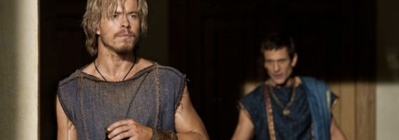 Todd Lasance and Simon Merrells in Spartacus Wolves at the Gate Spartacus: War of the Damned Episode 2 Review – Role Reversal