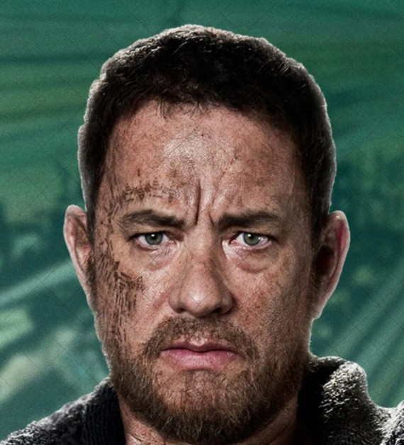 Tom Hanks in Cloud Atlas (Future)