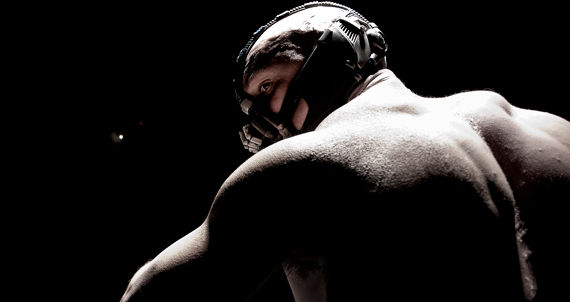 Tom Hardy Bane Dark Knight Rises Header Banes Full Costume Revealed in Dark Knight Rises Set Images