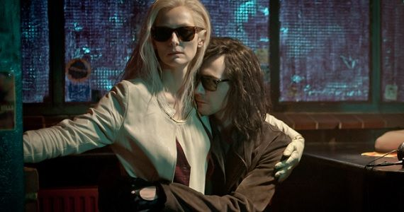 Tom Hiddleston embraces Tilda Swinton in Only Lovers Left Alive Only Lovers Left Alive Trailer: Vampires in Love