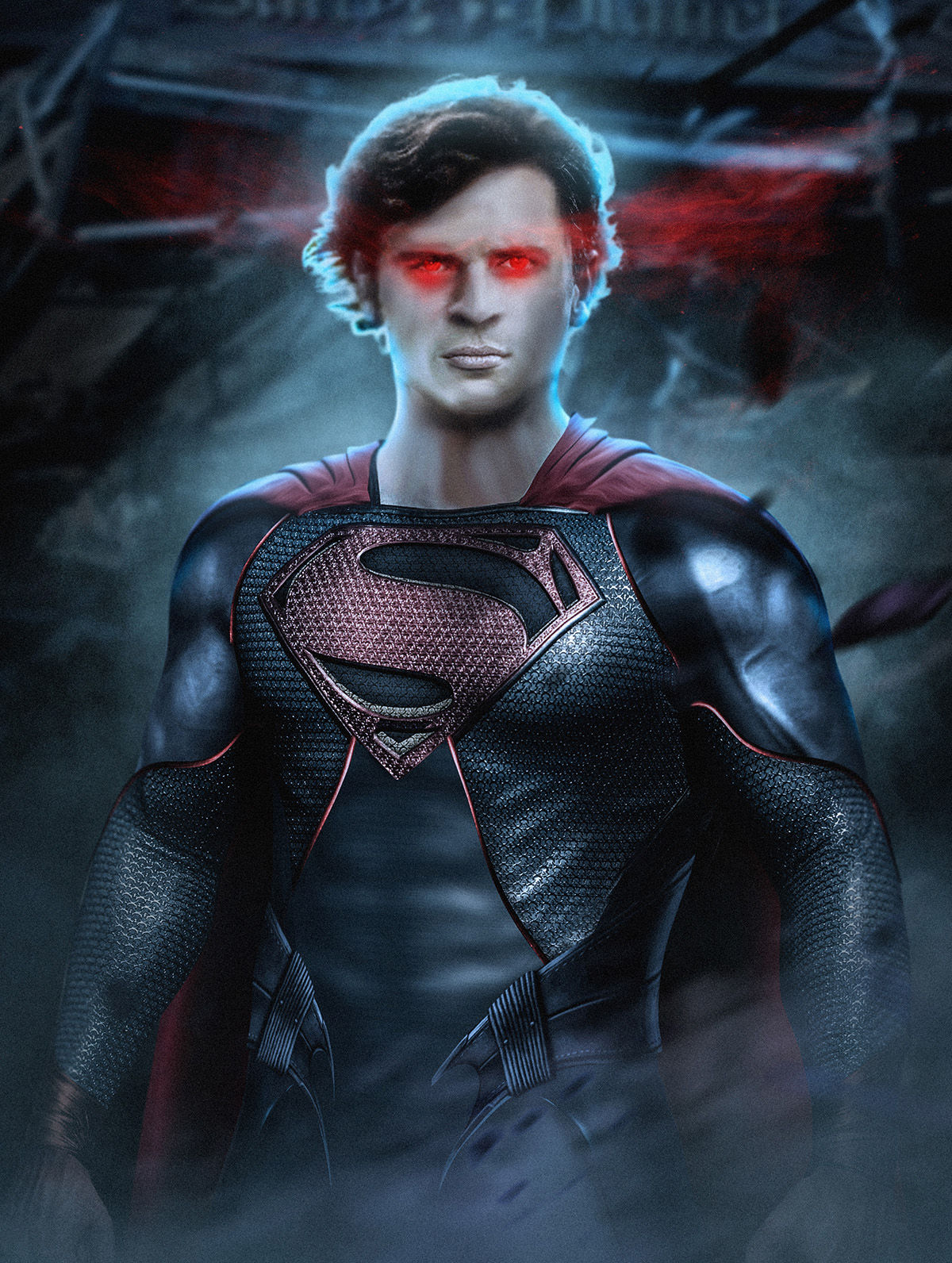 Tom welling as superman in justice league movie