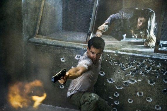 Total Recall Colin Farrell Quaid 570x379 Total Recall Interview: Colin Farrell & Jessica Biel