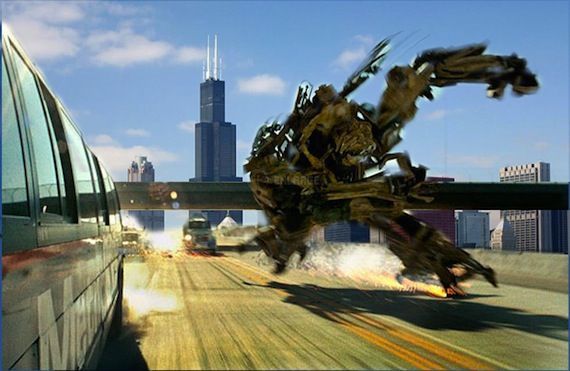 Transformers 3 Chicago filming Transformers 3 Shot In & Post Converted to 3D [Updated]