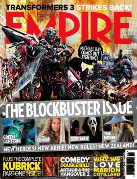 Transformers 3 Sentinel Prime Optimus Prime Empire Cover 280x364 Transformers 3 Empire Cover With Sentinel Prime