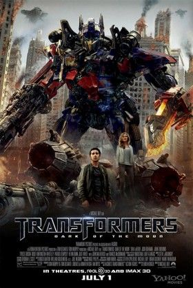 Offificial theaterical poster for Transformers 3 Dark of the Moon