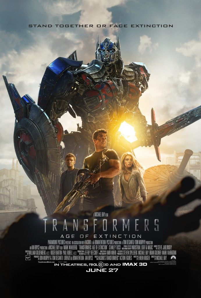 Transformers 4 Movie Poster Optimus Prime 691x1024 Transformers: Age of Extinction Trailer 2: A New Robot Army