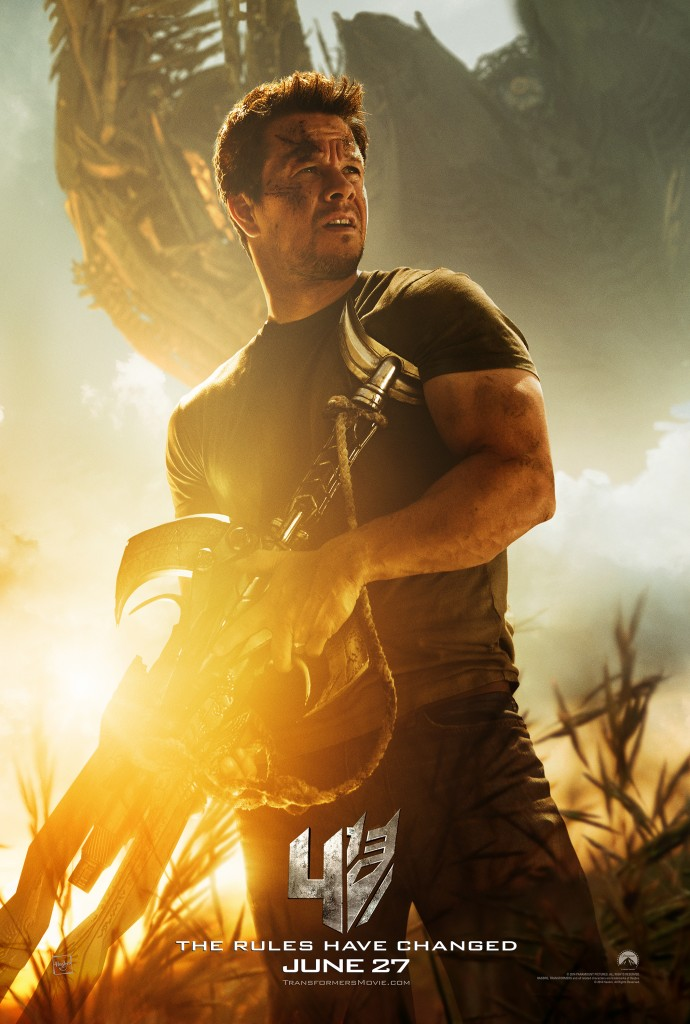 Transformers 4 Poster Mark Wahlberg as Cade Yaegar 690x1024 Transformers 4 Trailer Preview & Mark Wahlberg Poster [Updated]