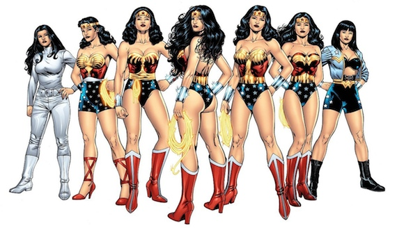 Various Wonder Woman Costumes Flash, Wonder Woman & Other JLA Members to Appear in Batman vs. Superman?